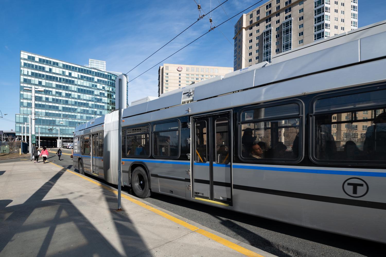 silver line bus exterior