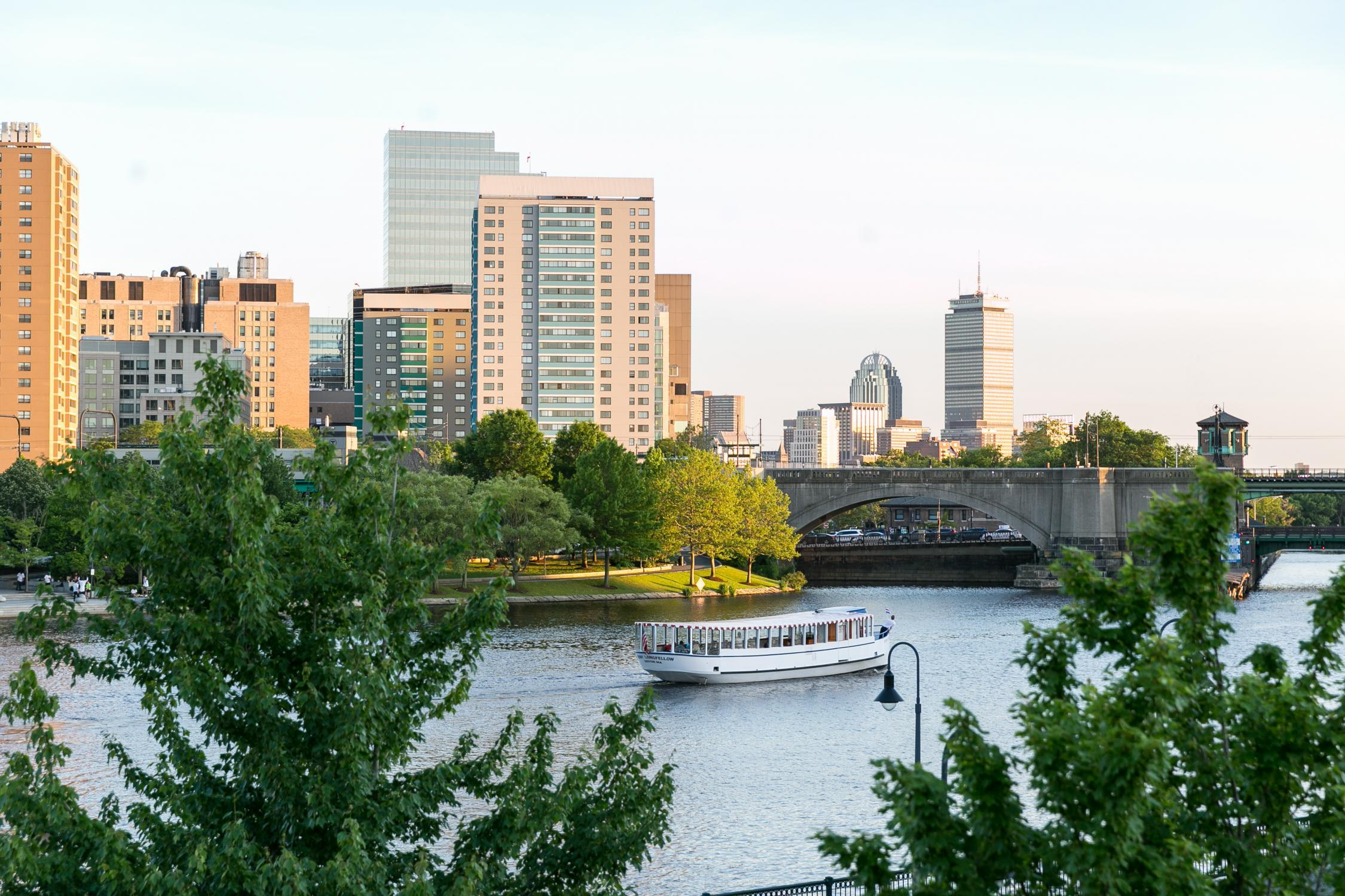 River and cityscape in summer