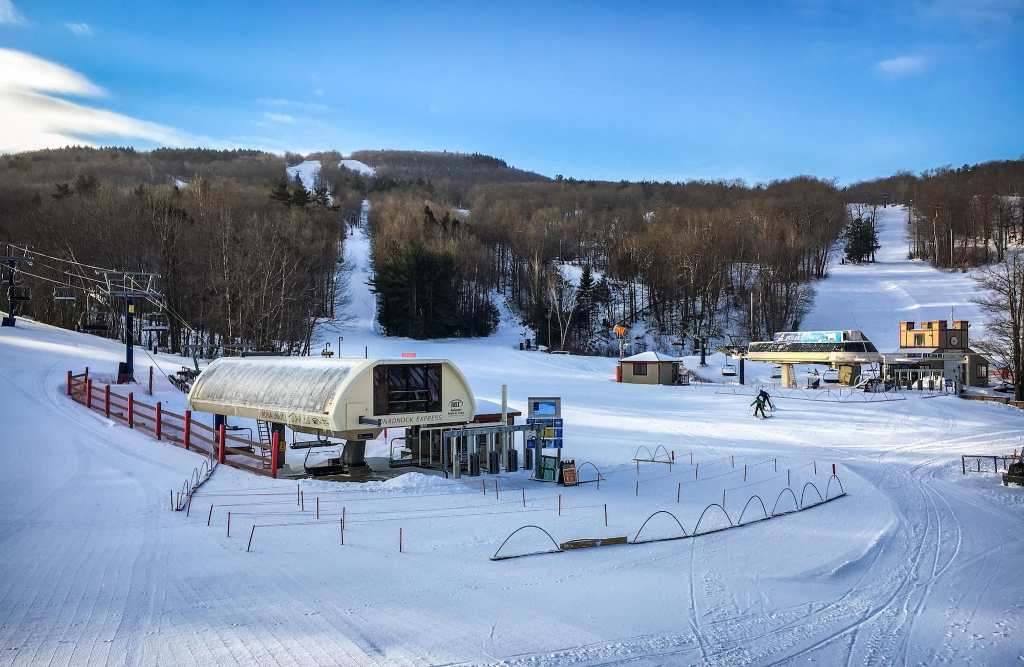 Wachusett Mountain covered in snow (Courtesy of Wachusett Mountain)