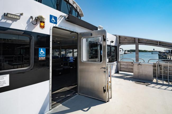 mbta ferry accessible entrance