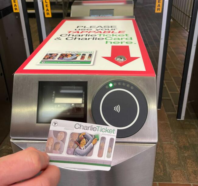 Tappable CharlieTickets do not have a black magnetic stripe. They can be tapped at the upgraded fare gates.