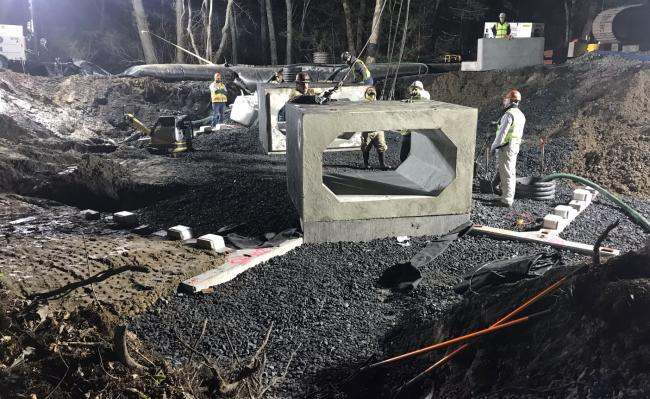 Work on culvert installation in Berkley (May 2019)