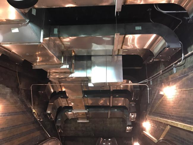 Back Bay Station ductwork