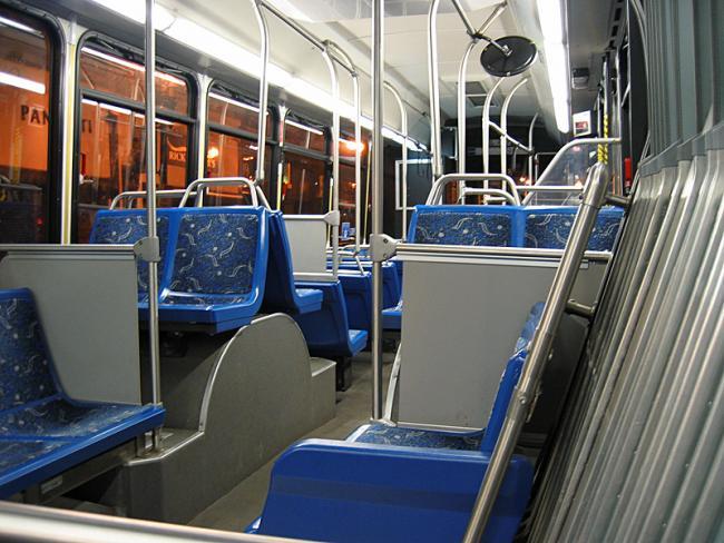 silver line bus interior