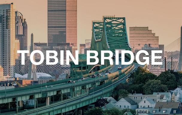 Tobin Bridge and Boston skyline