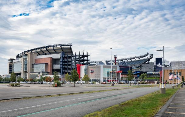 Gillette Stadium viewed from the outside