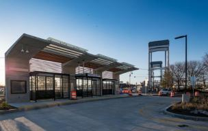 The newly built Eastern Ave station